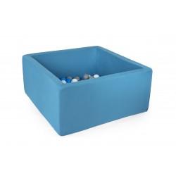 Suchy basen dla dzieci z piłeczkami 90x90x40 kwadratowy - turkusowy 300 piłek