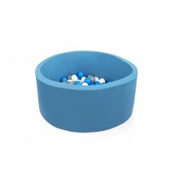 Suchy basen dla dzieci z piłeczkami 90x40 okrągły - turkusowy