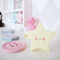 Lampka dziecięca LED gwiazdka waniliowa