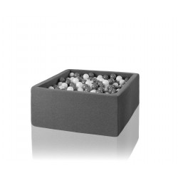 Suchy basen dla dzieci z piłeczkami 110x110x50 kwadratowy 500 szt. piłek