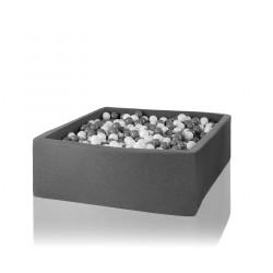 Suchy basen dla dzieci z piłeczkami 130x130x40 kwadratowy 600 szt. piłek