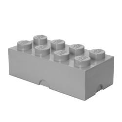 Pojemnik w kształcie klocka LEGO 8 - szary