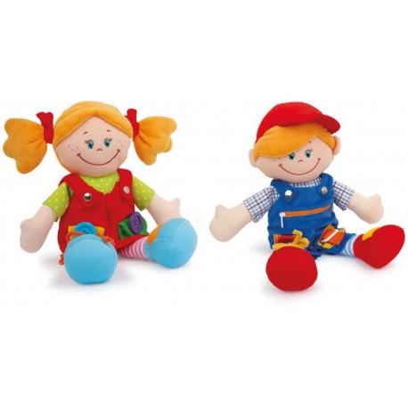 Lalki z zapięciami Klara i Marcel - zestaw