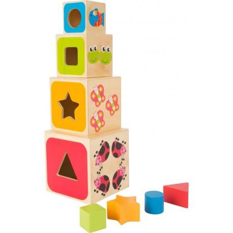 Kubeczki drewniane - wieża ABC