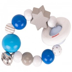 Drewniany pierścień elastyczny szaro-niebieski