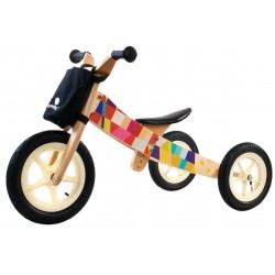 Rowerek biegowy drewniany 2w1 Twist Mosaic