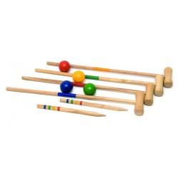 Drewniany krykiet 24 elementy