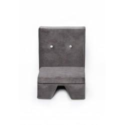 Fotelik dla dziecka Premium MISIOO - bez podłokietnika - szary