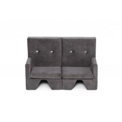 Sofa dla dziecka Premium MISIOO - 2 elementy - szary
