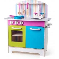 Drewniana kuchnia dla dzieci z akcesoriami JULIA