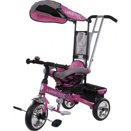 Rowerek trójkołowy Luxus Trike - różowy