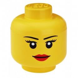 Pojemnik głowa LEGO - dziewczynka