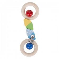 Grzechotka podwójny ring confetti