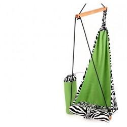 Bujany fotel - huśtawka dla dzieci zebra