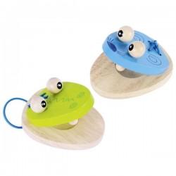 Kastaniety drewniane krokodyl i mysz