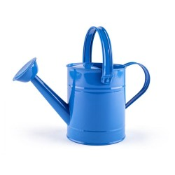 Konewka dla dziecka metalowa niebieska