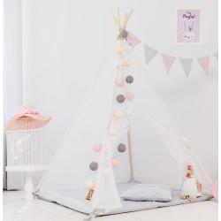 Namiot tipi dla dziecka Koronkowe Natchnienie - zestaw midi