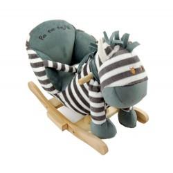 Zebra na biegunach bujak z fotelikiem Benek