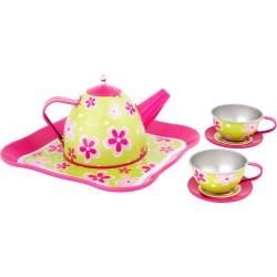 Zestaw do herbatki z kwiatuszkami