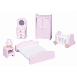 Mebelki dla lalek - sypialnia + pościel