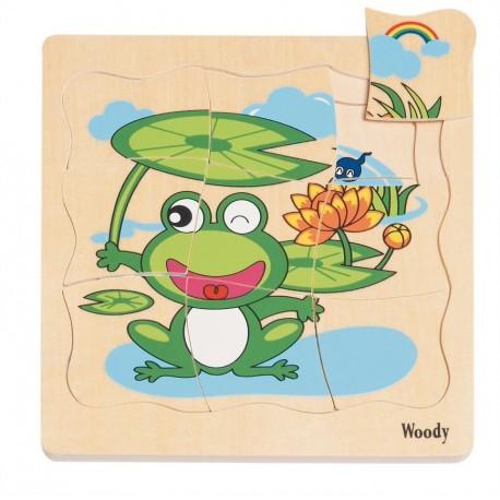 Puzzle warstwowe życie żaby