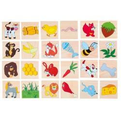 Drewniane puzzle Kto co zjada?