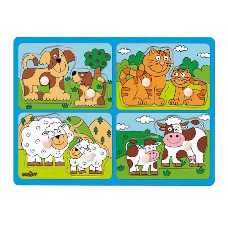 Układanka farma - zwierzęta z małymi