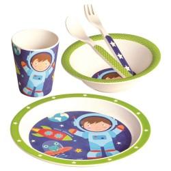 Bambus - naczynia dla dzieci astronauta
