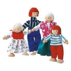 Rodzina laleczki drewniane do domku dla lalek