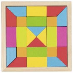Puzzle mozaika tęczowa