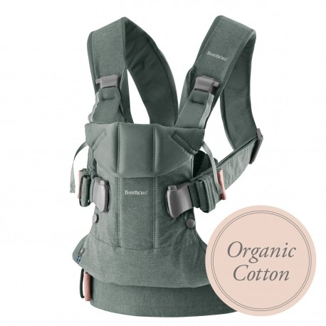BABYBJORN ONE - nosidełko - Organic Cotton Greyish Green