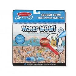 Malowanka wodna - zestaw DeLuxe z lupą Świat ludzi