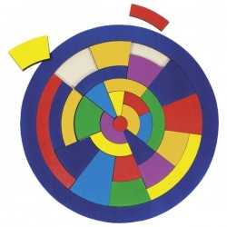 Puzzle koło - układanka edukacyjna Goki