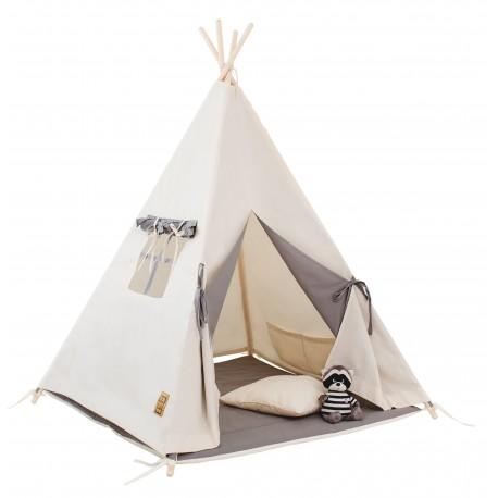 Namiot tipi dla dziecka Naturalna Szarość - zestaw mini