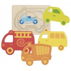 Układanka warstwowa pojazdy