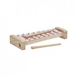 Drewniane cymbałki - różówe