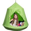 Huśtawka gniazdo bocianie z namiotem i lampkami