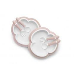BABYBJORN - talerzyki ze sztućcami - Powder Pink