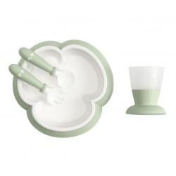 BABYBJORN - zestaw do karmienia - Powder Green