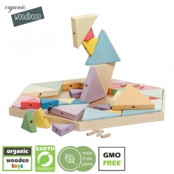 organic woodboon Wielka Wieża Trójkątna Feeria Barw Układanka Edukacyjna
