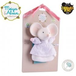 Meiya & Alvin - Meiya Mouse Soft Rattle with Organic Teether Head