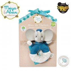 Meiya & Alvin - Alvin Elephant Soft Rattle with Organic Teether Head