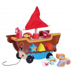 Drewniana łódka sorter