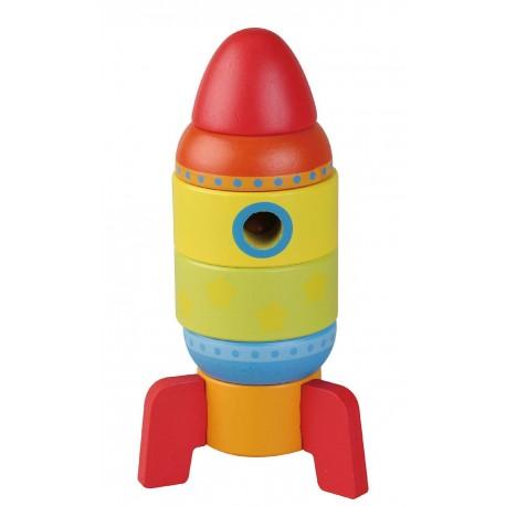 Drewniana wieża rakieta