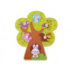 Drewniane puzzle drzewo
