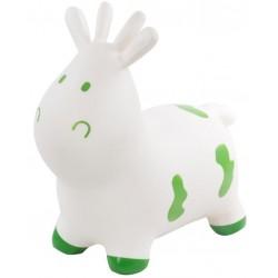 Skoczek krówka - biała z zielonymi chmurkami