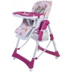Krzesełko do karmienia Laura - różowe