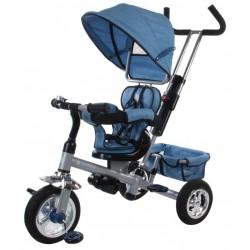 Rowerek trójkołowy z obrotowym siedzeniem - melanż niebieski