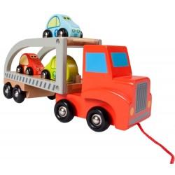 Drewniana laweta ciężarówka