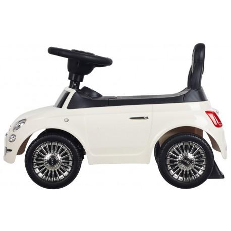 Jeździk Fiat 500 - Gelato biały